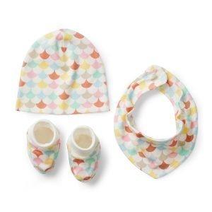 Littlephant Waves Baby Jersey Accessory Kit Vauva Setti Valkoinen / Multi