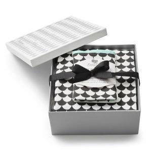 Littlephant Waves Huopa & Baby Comforter Setti Valkoinen / Musta