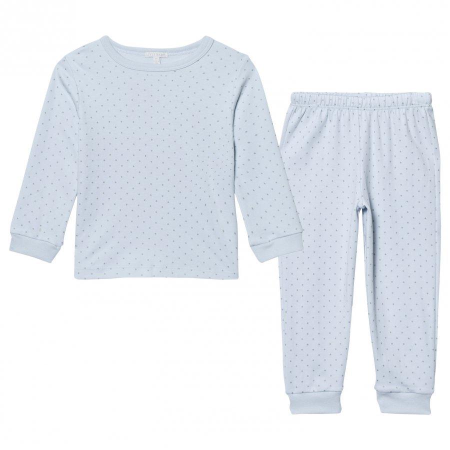Livly 2 Piece Pajama Baby Blue/Silver Dots Yöpuku