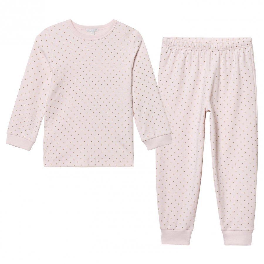 Livly 2 Piece Pajama Baby Pink/Gold Yöpuku