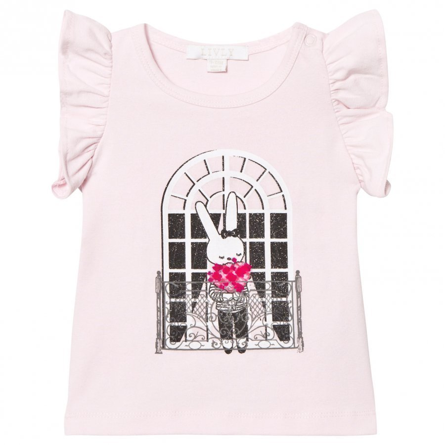 Livly Angel Sleeve Top Pink French Window Pitkähihainen T-Paita