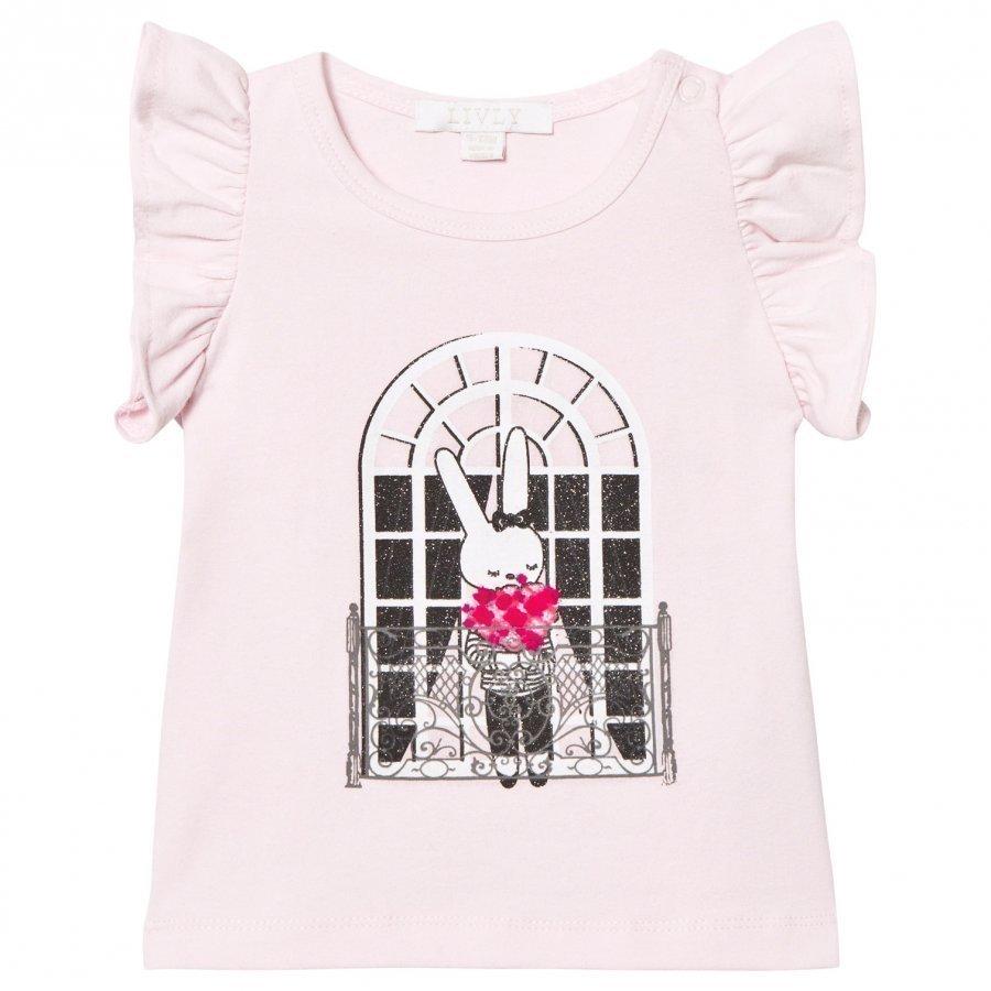 Livly Angel Sleeve Top Pink French Window Pitkähihainen T-Paita