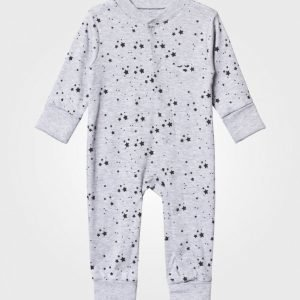 Livly Baby One-Piece Melange Grey/Black Stars Body