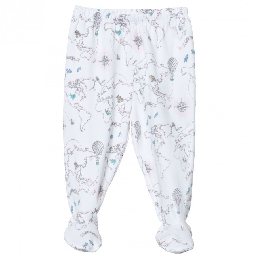 Livly Footed Pants Pink World Map Housut