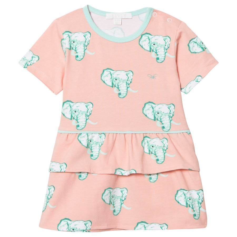 Livly Lily Dress Coral Elephants Mekko