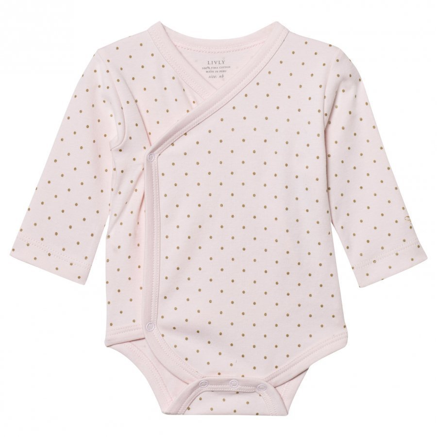 Livly Saturday Crossed Body Baby Pink/Gold Dots Body