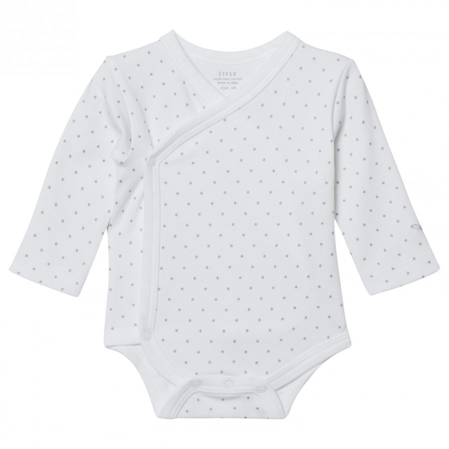 Livly Saturday Crossed Body White/Silver Dots Body