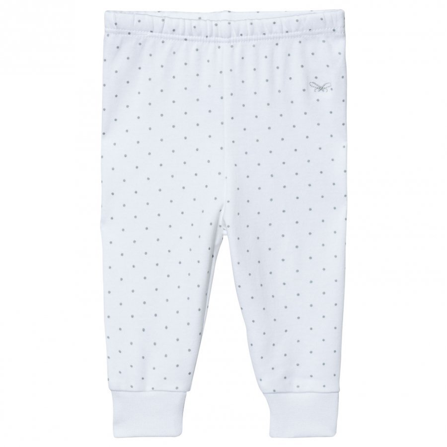 Livly Saturday Pants White/Silver Dots Legginsit