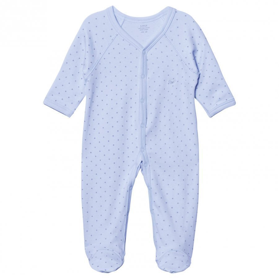 Livly Saturday Simplicity Footed Baby Body Baby Blue/Gold Dots Body