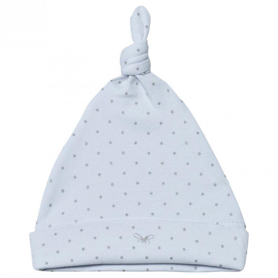 Livly Saturday Tossie Hat Baby Blue/Silver Dots Hattu Huivi Ja Hanskat Setti