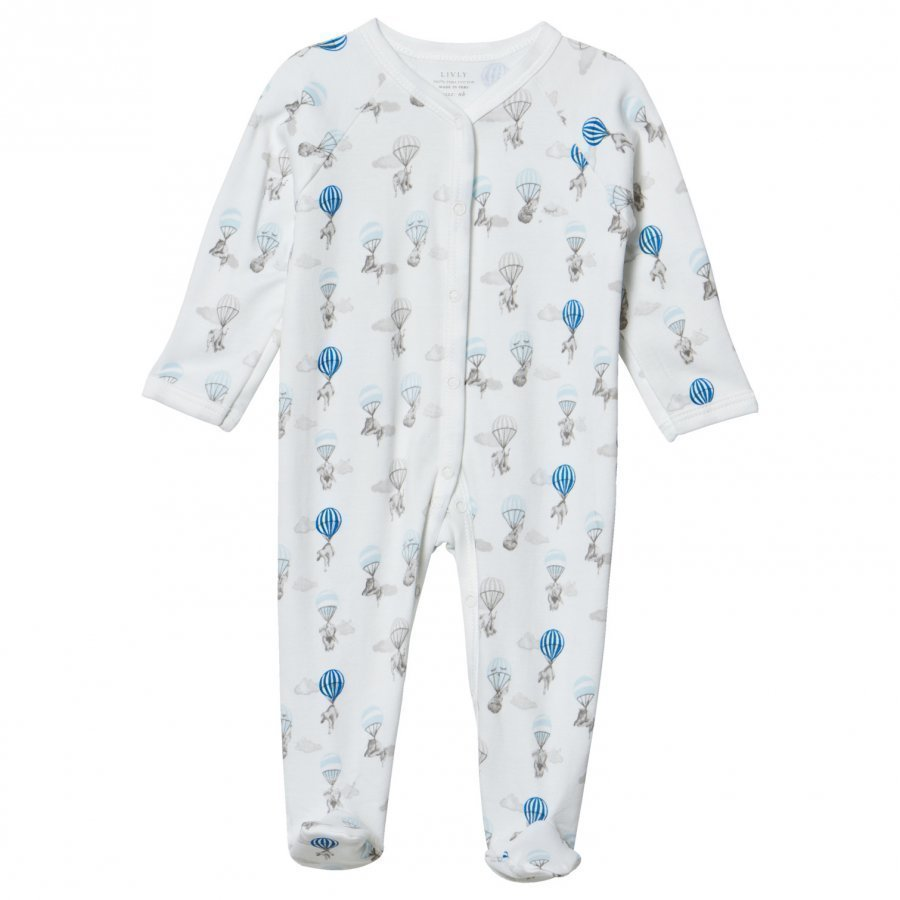 Livly Simplicity Footie Blue Elephant Body