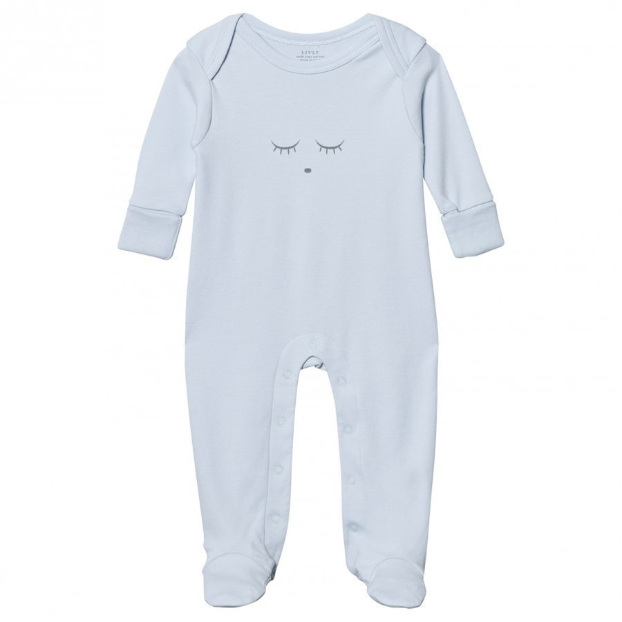 Livly Sleeping Cutie Cover Footed Baby Body Blue/Grey Body