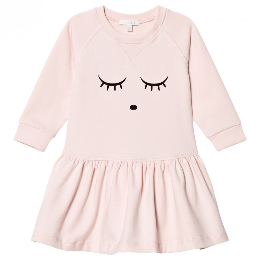 Livly Sweatshirt Dress Baby Pink/Sleeping Cutie Mekko