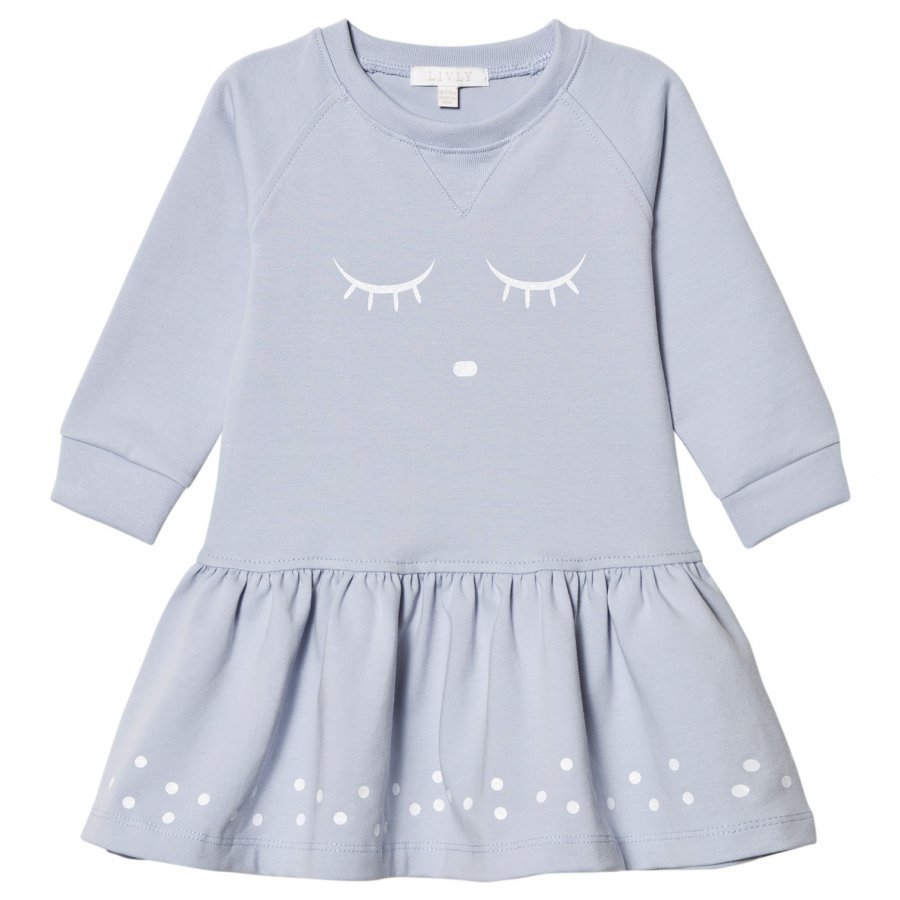Livly Sweatshirt Dress Blue Sleeping Cutie Mekko