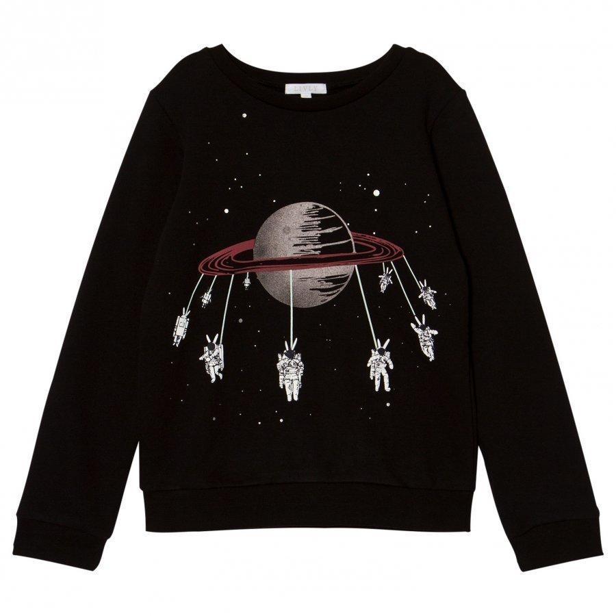 Livly Sweatshirt Swinging Astronauts/Black Kauluspaita