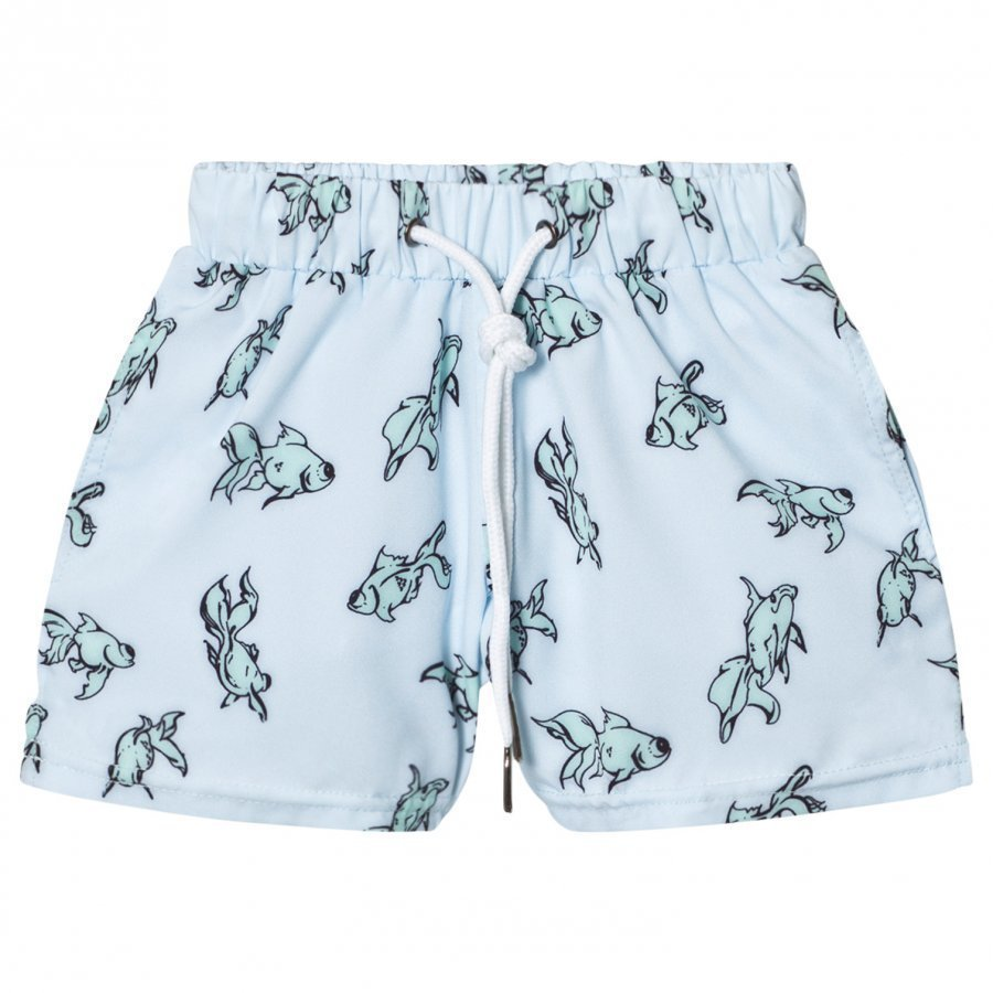 Livly Swim Trunks Gold Fish Blue Uimahousut