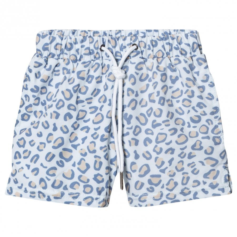 Livly Swim Trunks Leo Print Blue Uimahousut