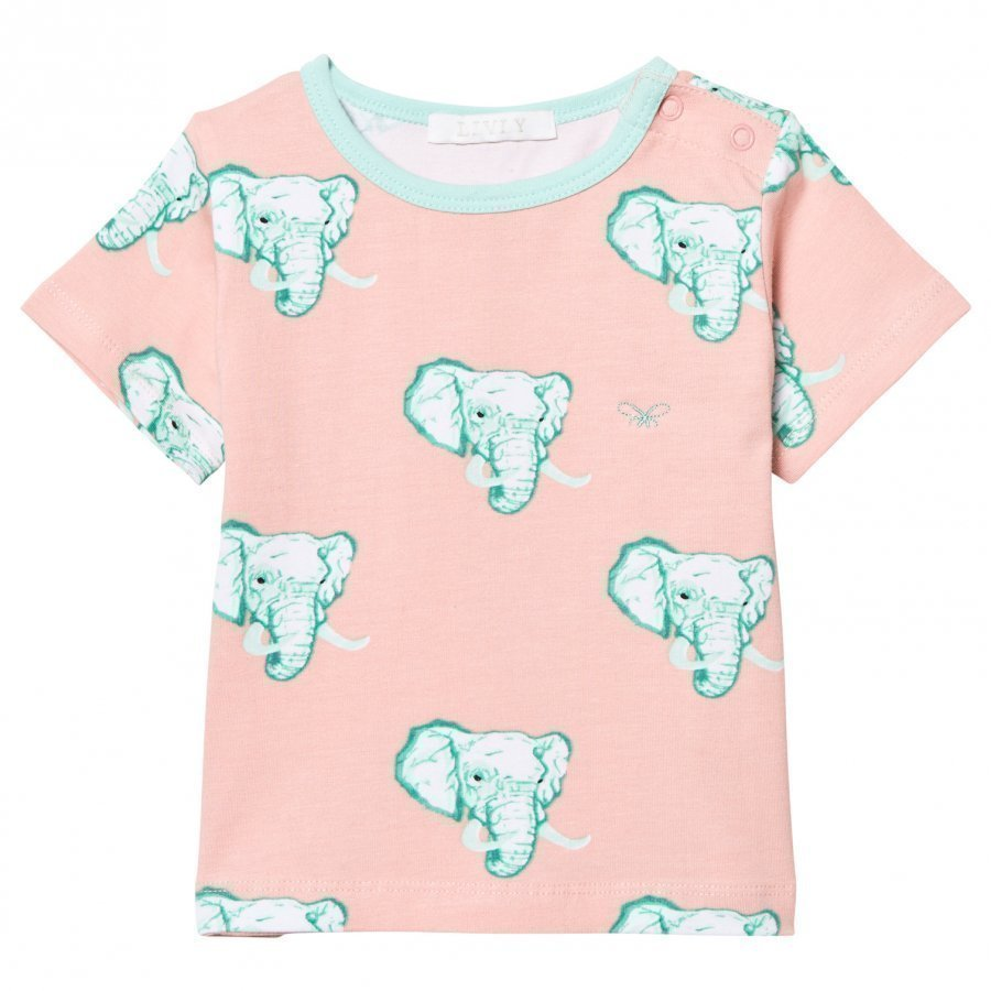 Livly T-Shirt Coral Elephants T-Paita