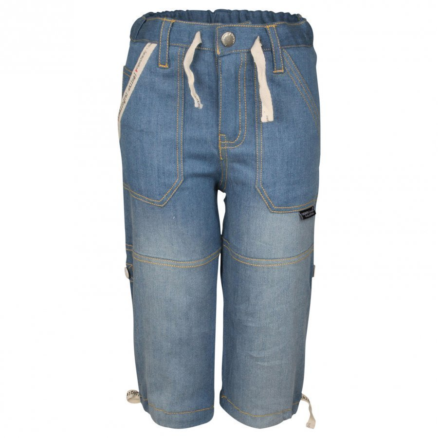 Lundmyr Of Sweden Cargo Jeans Blue Heart Print Farkut
