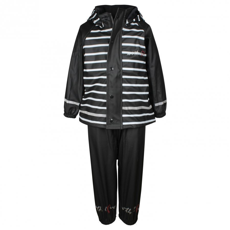 Lundmyr Of Sweden Rainwear Black/White Sadesetti