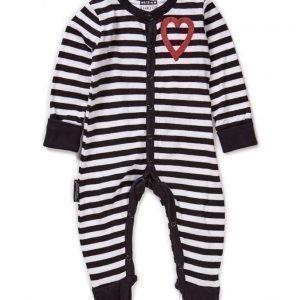 Lundmyr of Sweden Pyjamas W Foot Striped