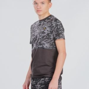 Lyle & Scott Aop Block T Shirt T-Paita Musta