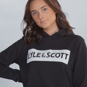 Lyle & Scott Block Logo Oth Hoody Fleece Huppari Musta