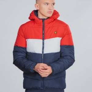 Lyle & Scott Colour Block Puffa Jacket Takki Sininen