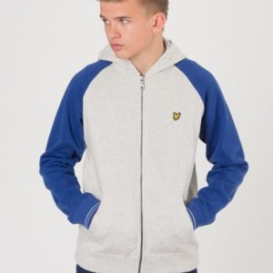 Lyle & Scott Colour Block Zip Through Hoody Huppari Harmaa