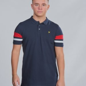 Lyle & Scott Contrast Band Polo Shirt Pikee Sininen
