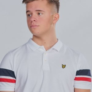 Lyle & Scott Contrast Band Polo Shirt Pikee Valkoinen