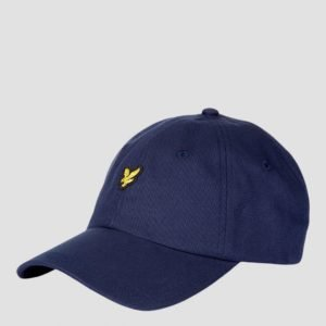 Lyle & Scott Cotton Twill Baseball Cap Lippis Sininen
