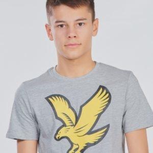 Lyle & Scott Eagle Logo T Shirt T-Paita Harmaa