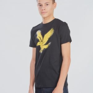 Lyle & Scott Eagle Logo T Shirt T-Paita Musta