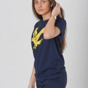 Lyle & Scott Eagle Logo T Shirt T-Paita Sininen