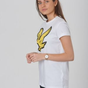 Lyle & Scott Eagle Logo T Shirt T-Paita Valkoinen