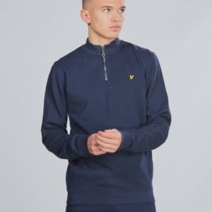 Lyle & Scott Funnel Neck 3/4 Zip Bb Neule Sininen