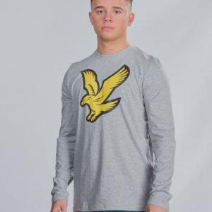 Lyle & Scott L/S Eagle Logo T Shirt T-Paita Harmaa