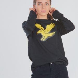 Lyle & Scott L/S Eagle Logo T Shirt T-Paita Musta