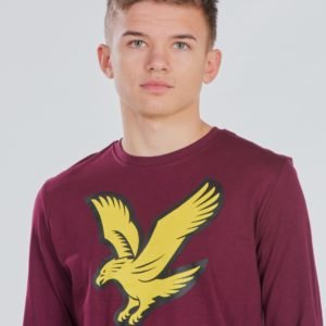 Lyle & Scott L/S Eagle Logo T Shirt T-Paita Punainen