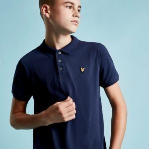 Lyle & Scott Logo Short Sleeve Polo Paita Sininen