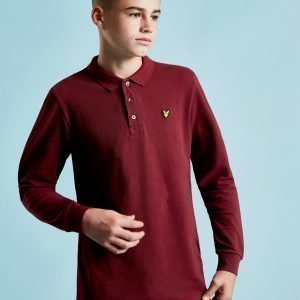 Lyle & Scott Long Sleeve Logo Polo Shirt Punainen