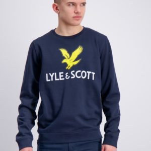 Lyle & Scott Lyle Eagle Logo Lb Crew Sweat Neule Sininen