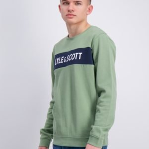 Lyle & Scott Lyle Panel Bb Crew Neule Vihreä