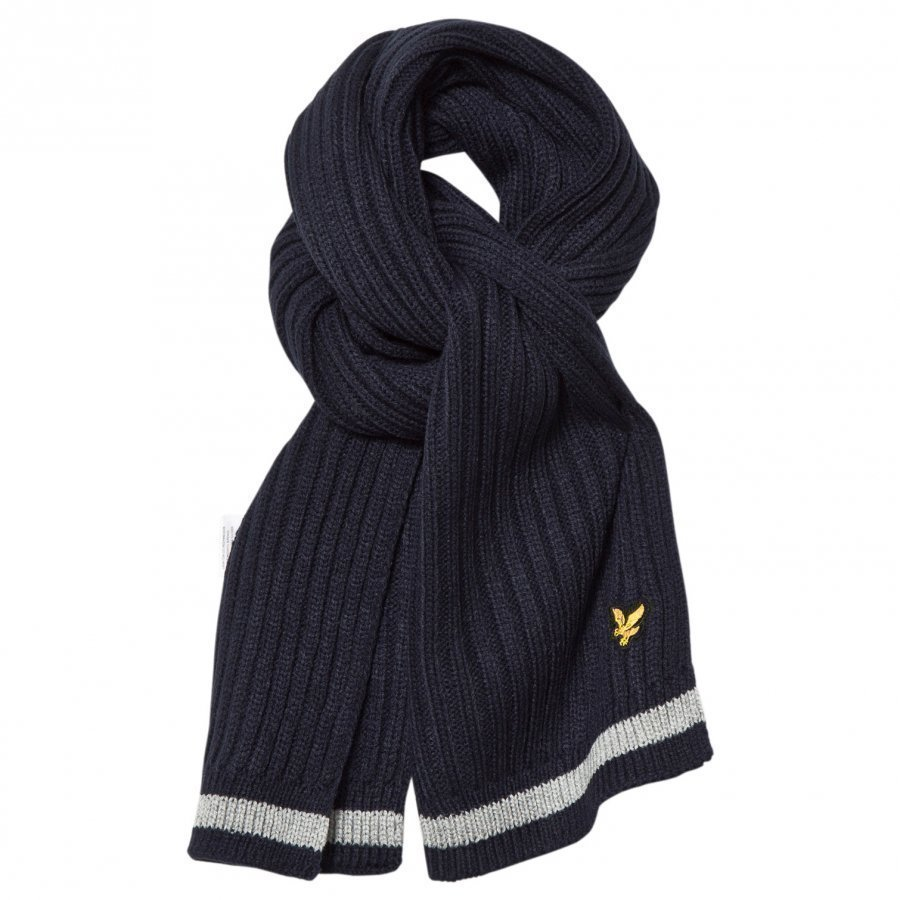 Lyle & Scott Navy Knitted Scarf Villahuivi