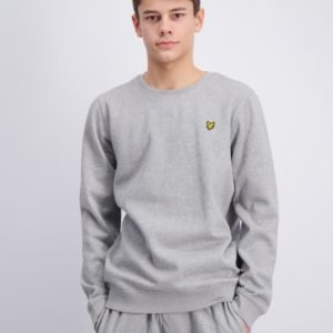 Lyle & Scott Plain Crew Neck Fleece Neule Harmaa