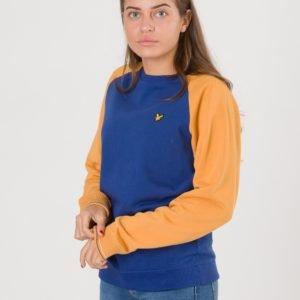 Lyle & Scott Reverse Texture Raglan Sweatshirt Neule Sininen