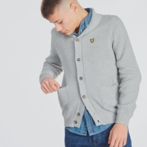 Lyle & Scott Shawl Collar Cardigan 7gg Neule Harmaa
