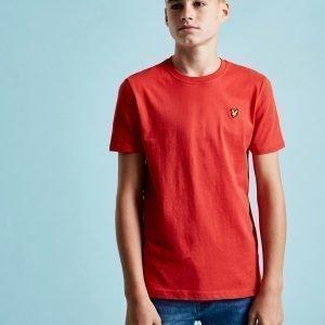 Lyle & Scott Short Sleeve Logo T-Paita Punainen
