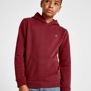 Lyle & Scott Small Logo Overhead Hoodie Burgundy / Yellow